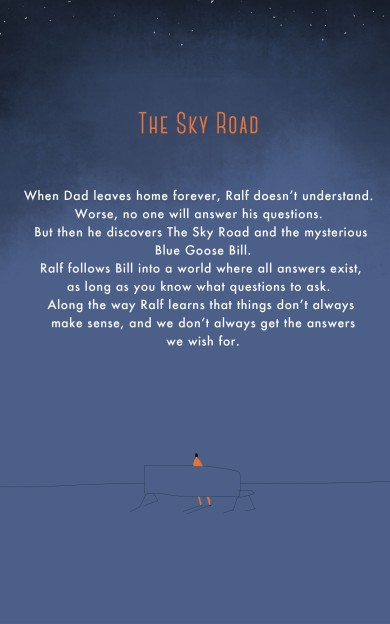 this is the back cover of the book called The Sky road