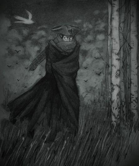 Solisteles walks in fear across the moor.